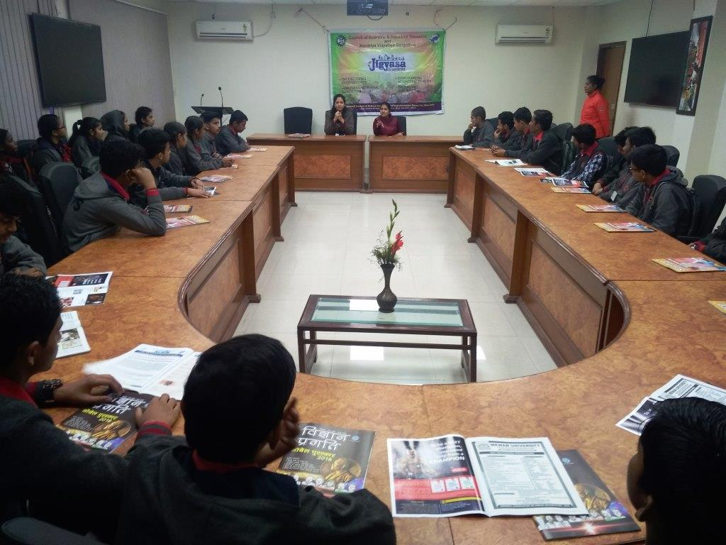 STUDENT VISITED  CSIR UNDER JIGYASA PROJECT (DISCUSSION ROOM)
