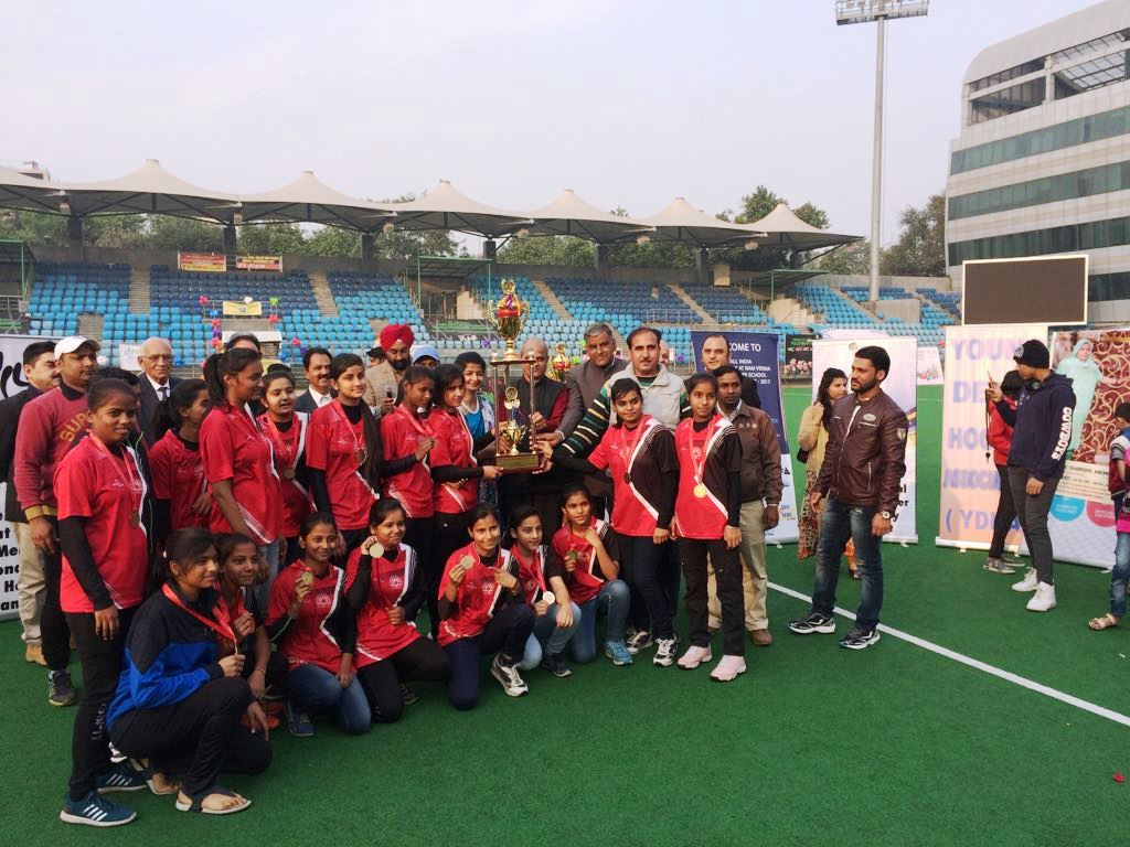 STUDENT PARTICIPATION IN HOCKEY AND GOT 1ST POSITION