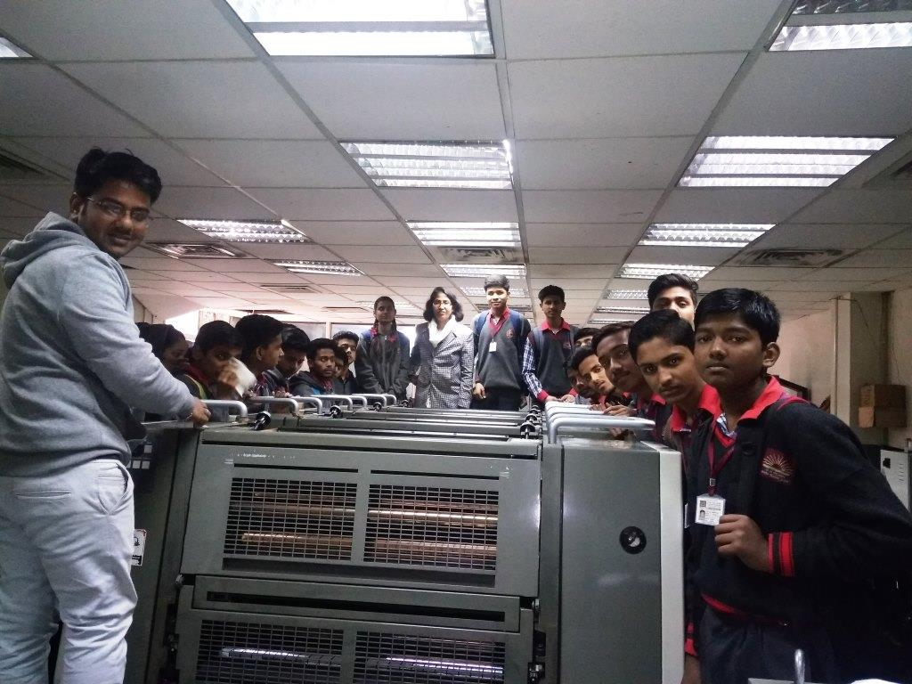 STUDENT VISITED CSIR UNDER JIGYASA PROJECT (PRINTING SECTION)